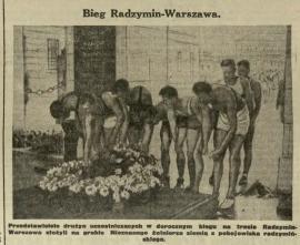 Bieg Radzymin - Warszawa - wycinek prasowy