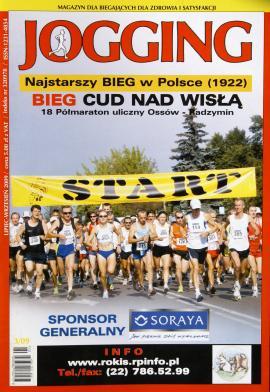 Najstarszy bieg w Polsce (1922) - okładka pisma Jogging